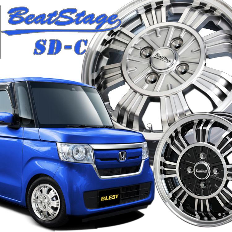 14インチ 4H100 4.5J+45 4穴 ブレスト ビートステージ SD-C ホイール 4本 1台分セット BLEST Best Stage SDC クラッシックシルバー