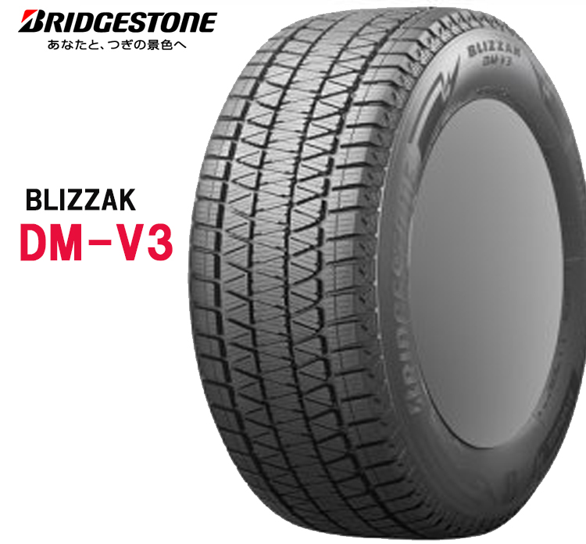 20インチ 235/55R20 102Q 2本 スタッドレスタイヤ BS ブリヂストン ブリザック DM-V3 スタットレスタイヤ チューブレスタイプ BRIDGESTONE BLIZZAK DM-V3