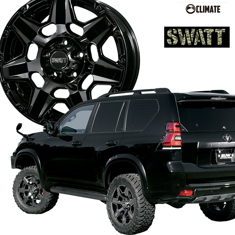 17インチ 6H139.7 8.0J 8J+20 6穴 クライメイト スワット SUV ホイール 4本 1台分セット CLIMATE SWATT SBC
