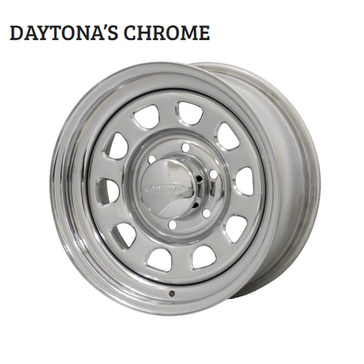 15インチ 6H139.7 6.5J+40 6穴 デイトナクローム ホイール 4本 1台分セット MORITA DAYTONA'S CHROME クローム 欠品中納期未定