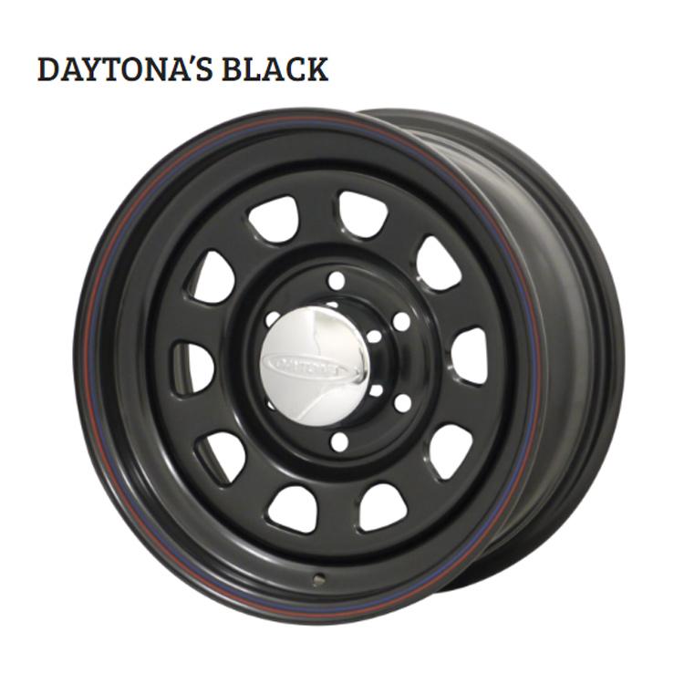 15インチ 5H139.7 6.0J 6J±0 5穴 デイトナブラック ホイール 4本 1台分セット MORITA DAYTONA'S BLACK ブラック 欠品中納期未定