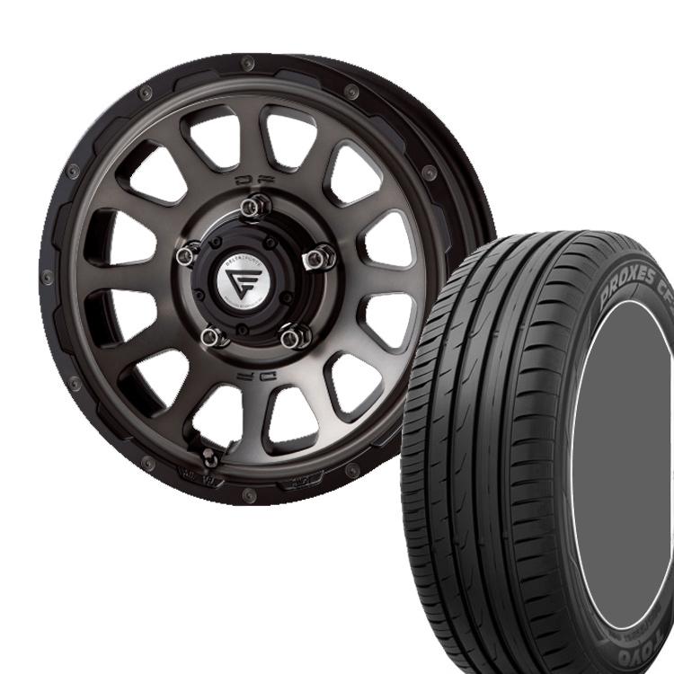 ジムニーシエラ用 16インチ TOYO プロクサス CF2S 4本 215/70R16 215 70 16 タイヤ ホイール セット OVAL 5H139.7 6.0J 6J+5 DELTA FORCE
