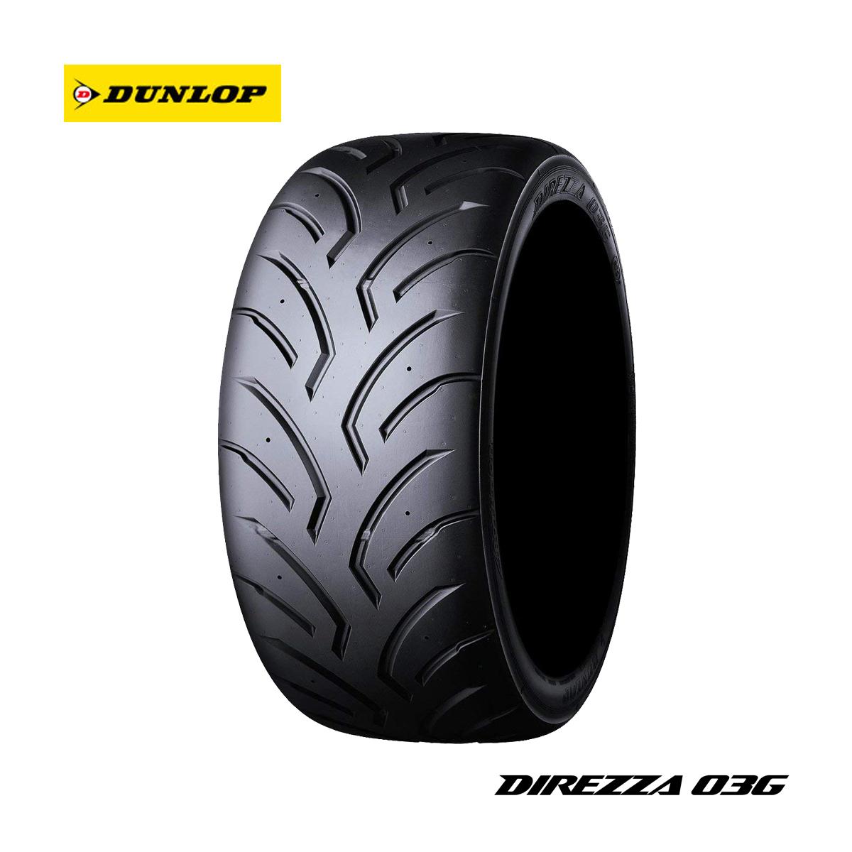 DUNLOP ダンロップ Sタイヤ ハイグリップ モータースポーツ 4本 セット 18インチ 295/30R18 DIREZZA ディレッツァ 03G コンパウンド H1