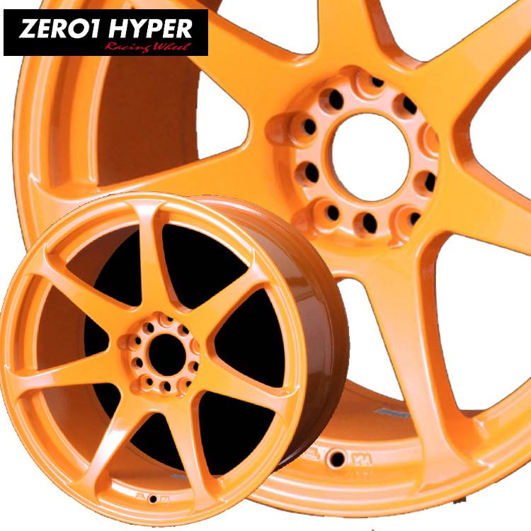 18インチ 5H114.3 9.0J 9J+30 5穴 ドゥオール CST ゼロワンハイパー ホイール 1本 DOALL ZERO1 HYPER 蛍光オレンジ
