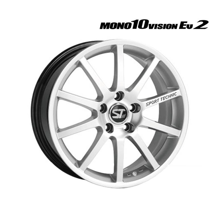 MONO10 VISION EU2 ホイール 1 本 14インチ 6.0J+38 4H100 4穴 クロームシルバー SPORT TECNIC モノ10ビジョンEU2