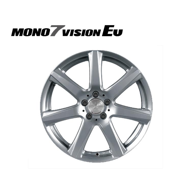 MONO7 VISION EU ホイール 4 本 17インチ 7.5J+40 5H112 5穴 クロームシルバー SPORT TECNIC モノ7ビジョンEU