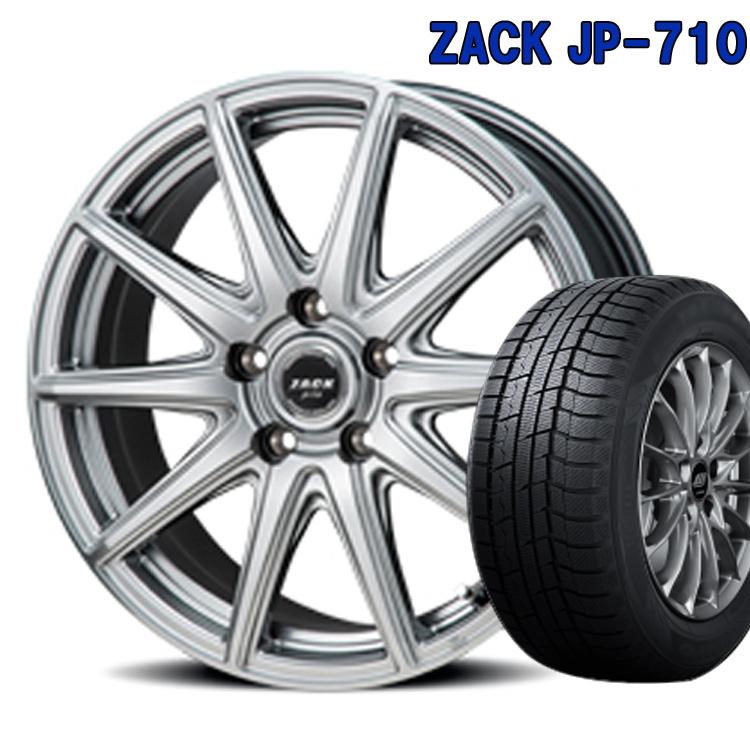 ダンロップ 205/60R16 205 60 16 ウィンターマックス02 スタッドレスタイヤ ホイールセット 4本 1台分セット ザック JP710 16インチ 5H114.3 6.5J+48 ZACK JP 710 ジャパン三陽