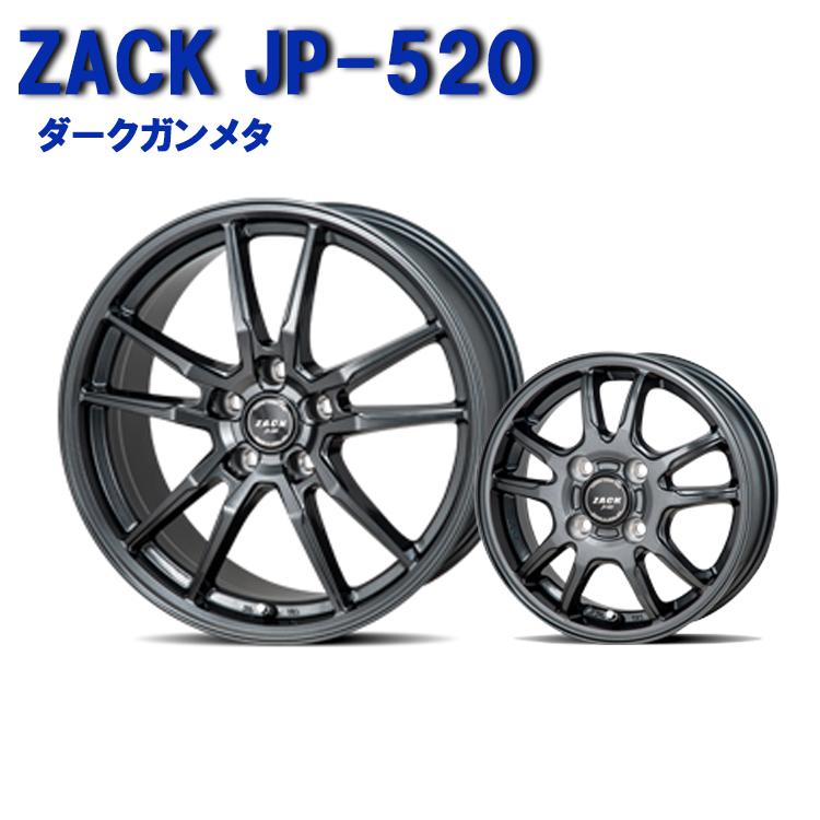 ZACK JP-520 ホイール 4 本 一台分セット 16インチ 6.5J+48 5H114.3 5穴 ダークガンメタ JAPAN三陽 ザック JP520