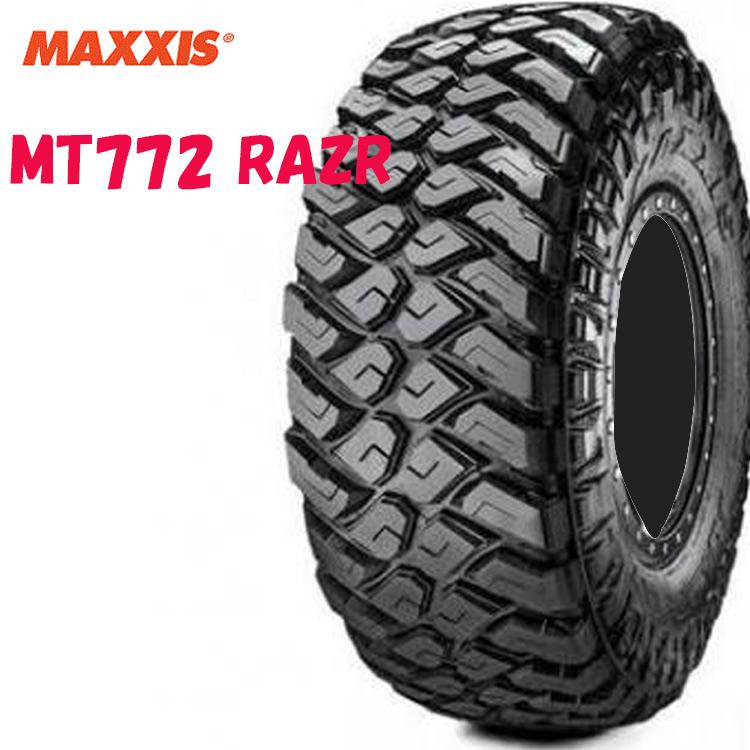 17インチ 37X12.50R17 LT 124Q 10PR 4本 レイズドブラックレター マッドテレーン マキシス MT772 レイザー MAXXIS MT-772 RAZR 個人宅追加金有 要在庫確認
