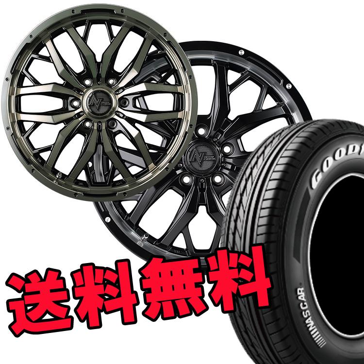 ハイエース用 17インチ グッドイヤー イーグルナスカー 4本 215/60R17 215 60 17 タイヤ ホイール セット GADGET 6H139.7 6.5J+48 MID