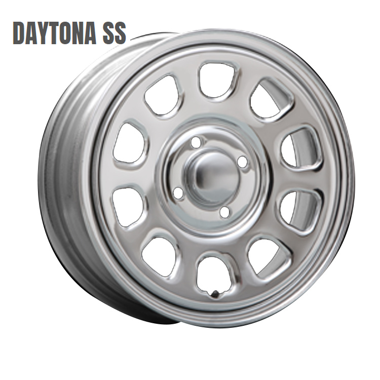 DAYTONA SS ホイール 4 本 14インチ 5.0J+42 4H100 4穴 クローム MLJ デイトナSS