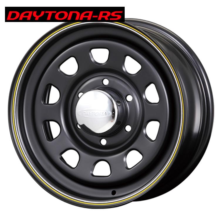 16インチ 6H139.7 6.5J+38 6穴 デイトナRS ホイール 4 本 1台分セット マットブラック(イエロー&ホワイトライン) エースロードスター DAYTONA-RS Roadster 欠品中納期未定