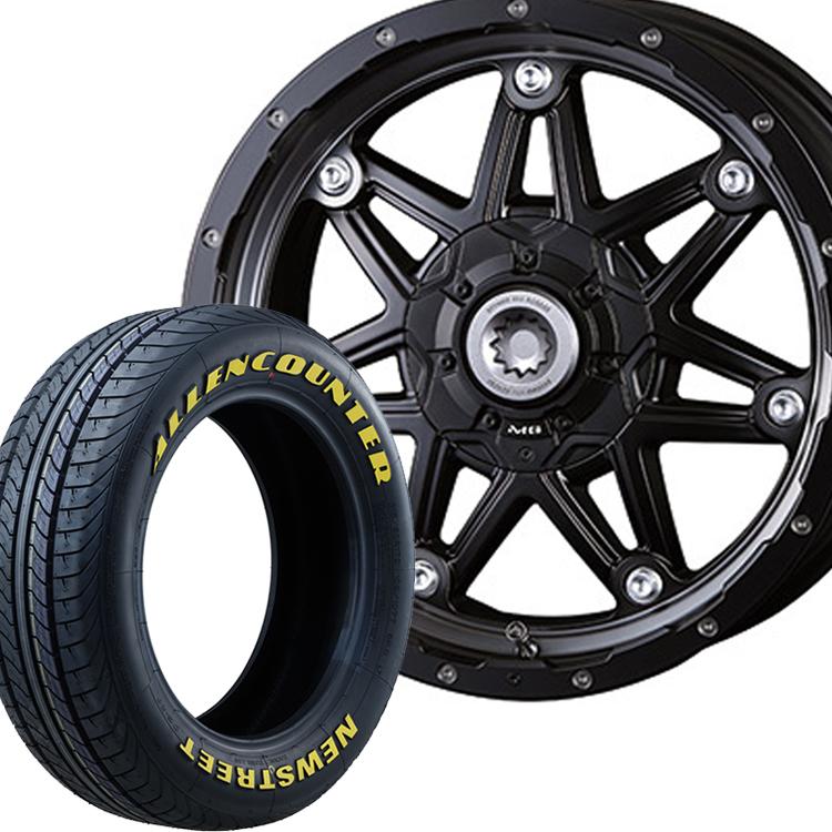 ハイエース用 16インチ オーレンカウンター イエローレター 4本 215/65R16 215 65 16 タイヤ ホイール セット MGライカン 6H139.7 7.0J 7J+38 クリムソン