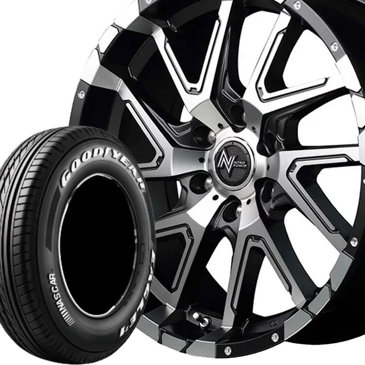 キャラバン用 17インチ グッドイヤー イーグル ナスカー 4本 215/60R17 109/107R タイヤ ホイール セット ナイトロパワー デリンジャー 6H139.7 6.5J+48 MID