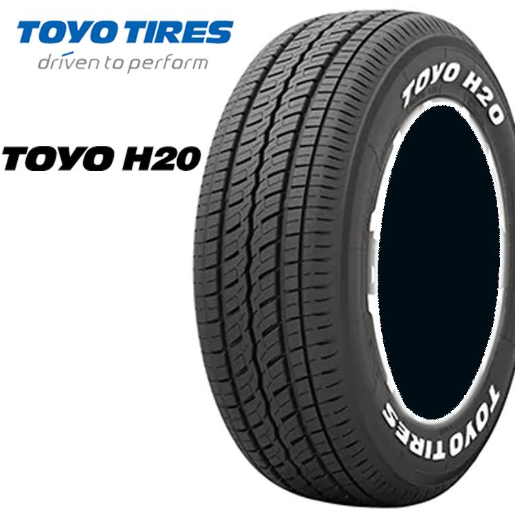 15インチ LT 195/80R15 107/105L 4本 ホワイトレター バン 商用 タイヤ トーヨー H20 TOYO H20
