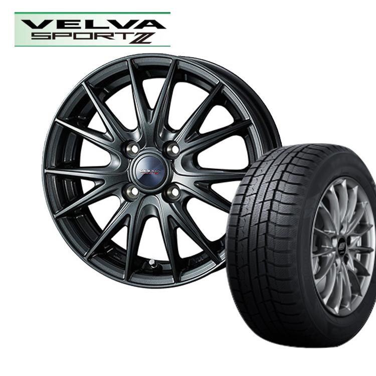 ウィンターマックス02 165/60R15 165 60 15 ダンロップ スタッドレス タイヤホイールセット 1本 ヴェルヴァスポルト2 15インチ 4H100 4.5J+45 ウェッズ weds VELVA SPORT2