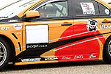 乱人 ランエボ ランサー CZ4A サイドステップスポイラー 未塗装 RANDO RANDO SPORTS