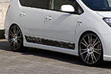 乱人 プリウス NHW20 サイドステップスポイラー 未塗装 RANDO AVANT