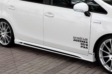 ROWEN ロウェン プリウスα ZVW41 前期 サイドステップ RR 未塗装 ECO-SPO Edition1T005J00 トミーカイラ