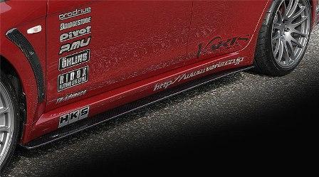 VARIS バリス ランサーエボリューション10 ランエボX CZ4A サイドアンダーボード カーボン VAMI-115