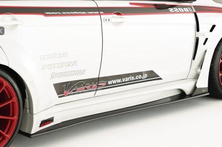 VARIS バリス ランサーエボリューション10 ランエボX CZ4A ワイド用サイドスカート ワイドボディーバージョン FRP VAMI-159