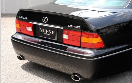 VLENE ブレーン EXISTENCE エグジスタンス リアバンパースポイラー 未塗装 セルシオ UCF20 21 MC後期