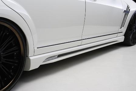 WALD ヴァルド Sports Line Black Bison Edition スポーツラインブラックバイソンエディション サイドステップ 未塗装 メルセデス・ベンツ W221 後期