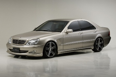 WALD ヴァルド Executive Line メルセデス・ベンツ W220 S class 3点キット 221 Look FRP製