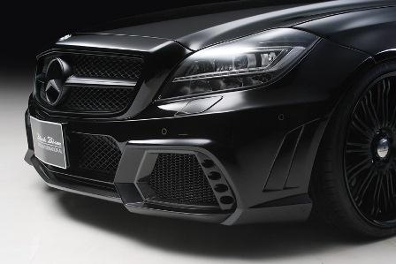 WALD ヴァルド Sports Line Black Bison Edition メルセデス・ベンツ C218 CLS class フロントバンパースポイラー ハイブリッド製カーボン/FRP製