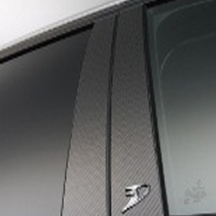 WALD ヴァルド Blan Ballen ヴォクシー 60系 カーボンピラーパネル ブラックカーボン シルバーカーボン