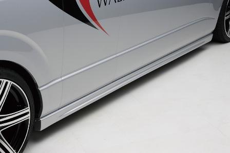 WALD ヴァルド Executive Line V2 エクゼクティブラインV2 サイドステップ スーパーロング 未塗装 ハイエース KDH TRH210 220
