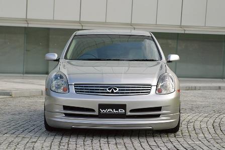 WALD ヴァルド Executive Line スカイライン V35 前期 セダン フロントスポイラー FRP製