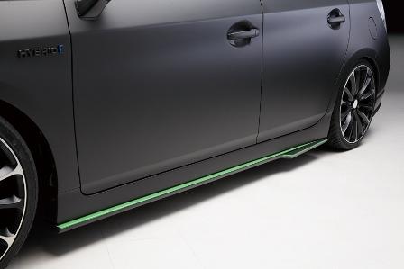 WALD ヴァルド プリウス ZVW30 サイドステップ 未塗装 Sports Line スポーツライン