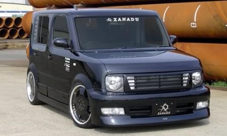 XANADU ザナドゥー キューブ BZ11 前期 サイドステップ+ドアパネル 未塗装 エアロシリーズ