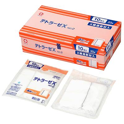 白十字 テトラーゼX No.2-10枚入 20袋(滅菌済) 30cm×30cm 4折 X線造影材入【手術用ガーゼ】