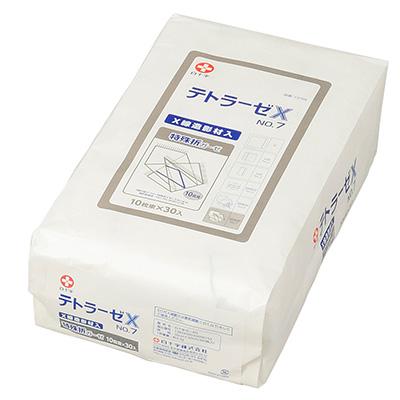 白十字 テトラーゼX No.7 10枚束×30枚入 30cm×30cm 特殊折 X線造影材入【手術用ガーゼ】