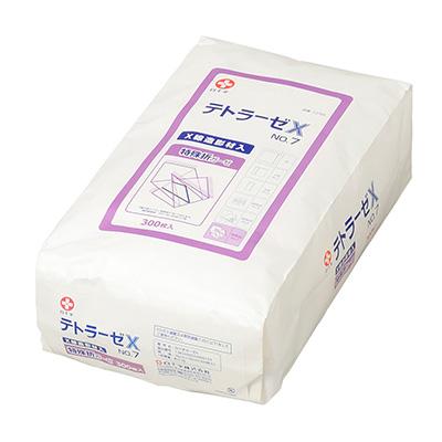 白十字 テトラーゼX No.7 300枚入 30cm×30cm 特殊折 X線造影材入【手術用ガーゼ】