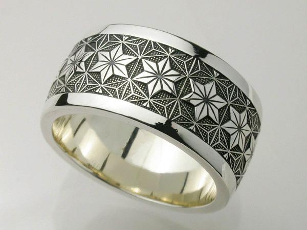 GENROKUリング・麻の葉 シルバー 江戸小紋 指輪 和風 950
