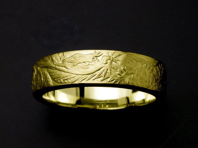 提高龙环、 龙和 18 克拉黄金 (# 17-21 #)
