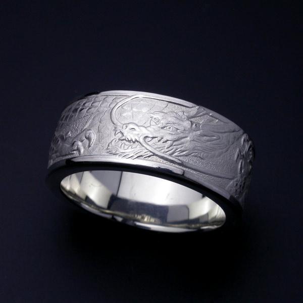 昇龍リング・左龍・Pt900プラチナ(#15~#19) 【指輪】 【リング】 【メンズ】 【サイズ】 【龍】 【Dragon】 【Pt900】 【プラチナ】