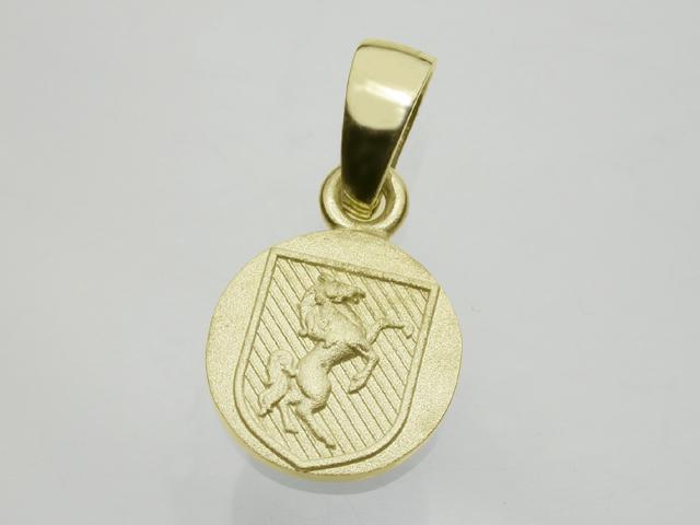 ホースバックラーペンダント・K18ゴールド