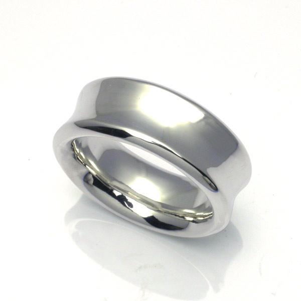 くぼんだシルバーリング・メンズ くぼみ シルバー925 ユニセックス ペアリング 優しい 結婚指輪 指輪 プレゼント ギフト