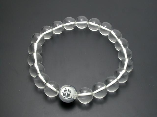 漢字入り・数珠ブレスレット・水晶