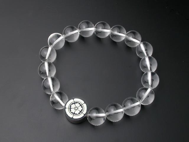 家紋・数珠ブレスレット・水晶・松コース