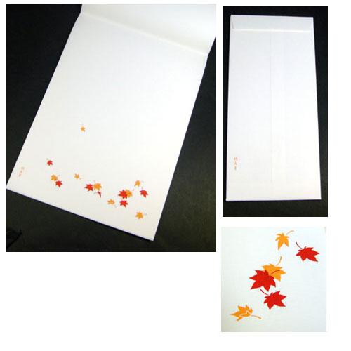 Dove residence hall letter set Maple Toga (Momiji) autumn stationery and envelopes