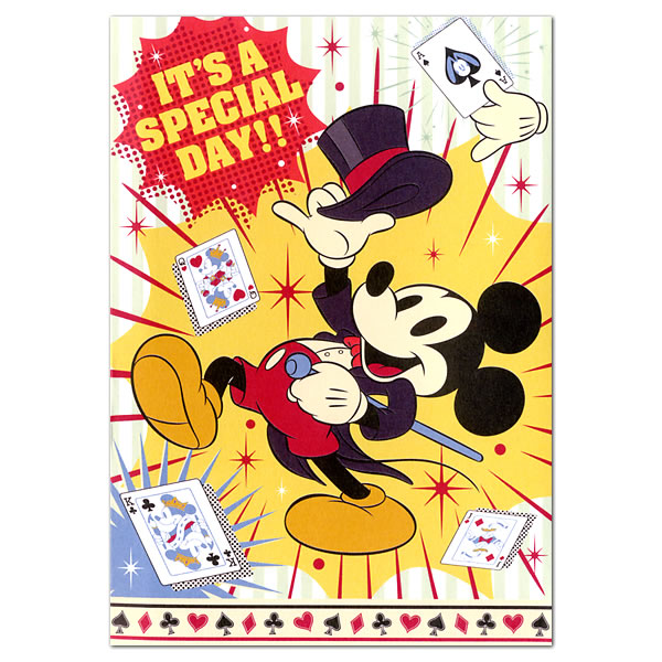 Ashiya Hori Mansho Do Birthday Card Music Disney Mickey Magic Pulse