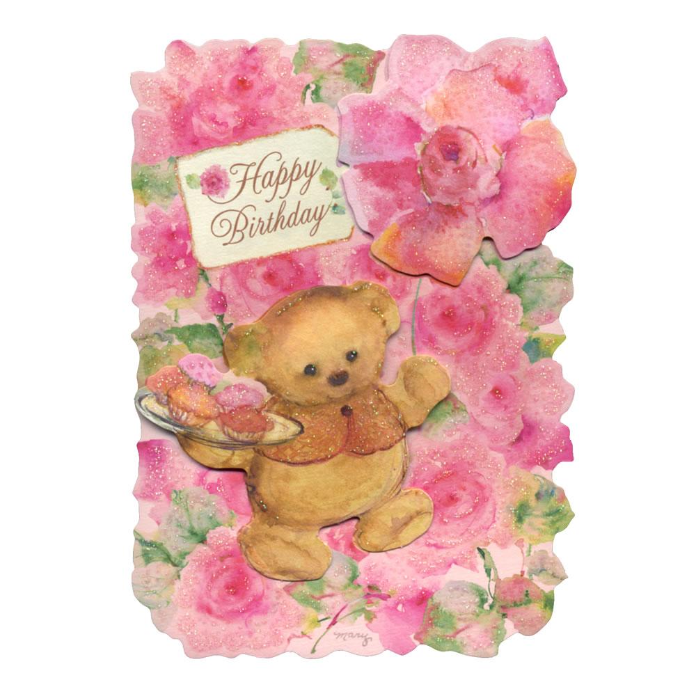 Ashiya Hori Mansho Do Birthday Card Hac Mary Bear Rose Eap 722 159