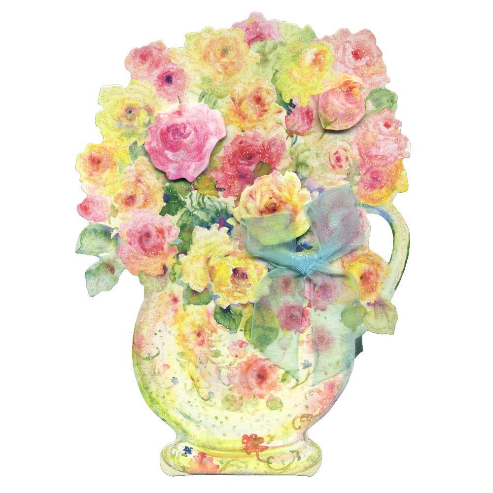 Ashiya Hori Mansho Do Birthday Card Hac Mary Flower Arrangement Ear