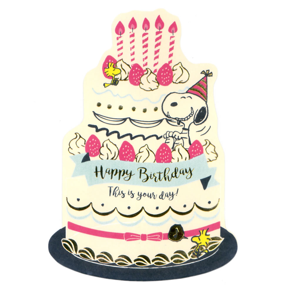 The Hallmark Greeting Card Birthday Which I Put Up Snoopy Die Cut Cake EAR 722 500 And Can Display