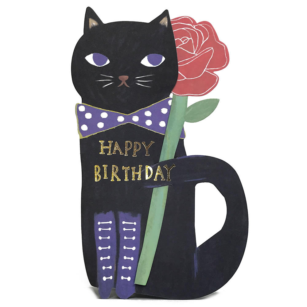 Image result for Happy birthday cats black
